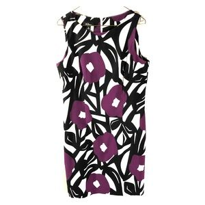 AGB Sleeveless sheath floral dress 12 GUC